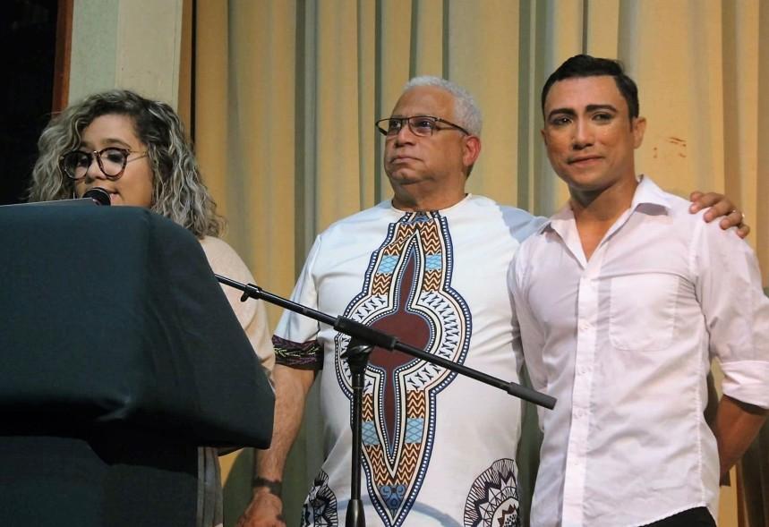 Gaetan, David Munoz y Stepahn Vega Melendez en reconocimiento
