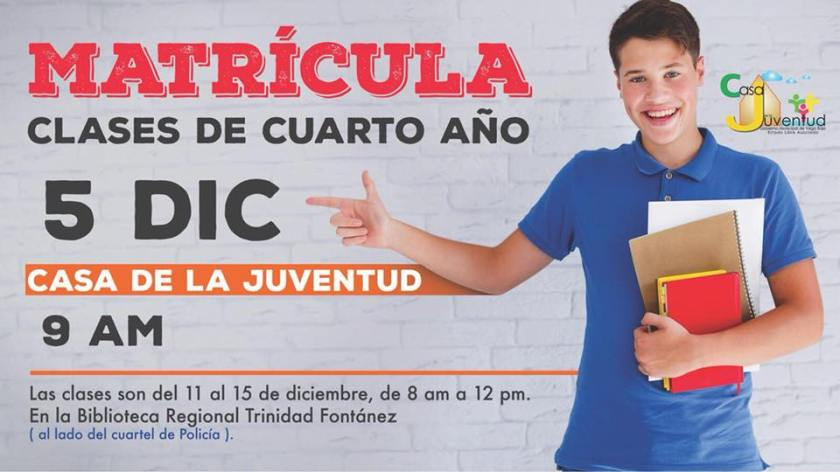 ANUNCIO CLASES 4TO ANO