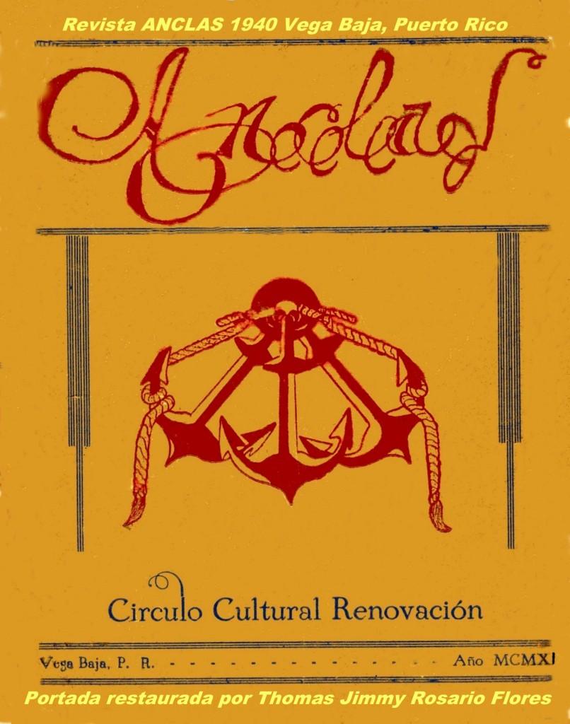 001 Pagina Portada Anclas Mayo 1940 Vega Baja, PR