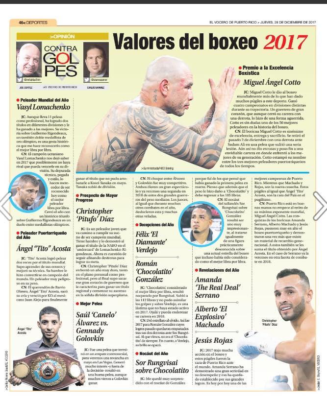 CARLOOS NARVAEZ VALORES DEL BOXEO DE PR