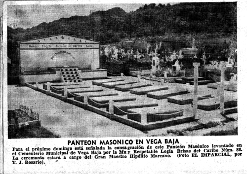 El Imparcial 1963 PANTEON MASONICO vb RECORTE