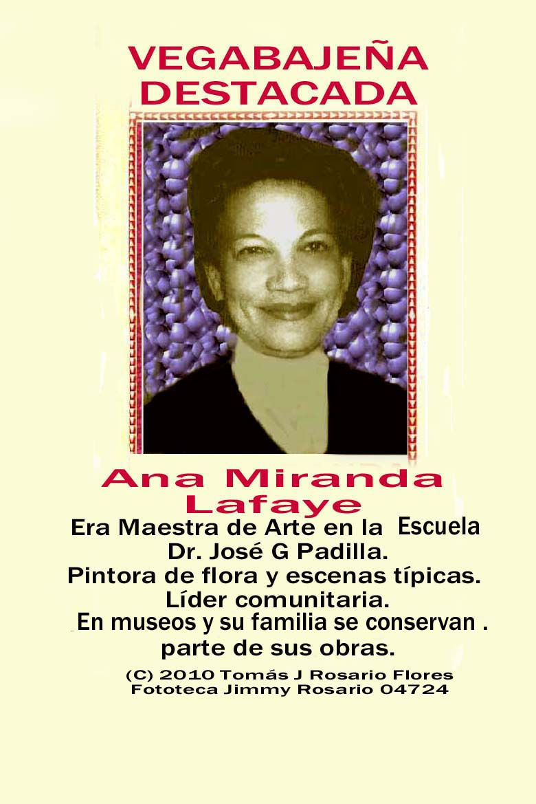 Ana Miranda Lafaye Vegabajeña Pintora y Maestra Arte