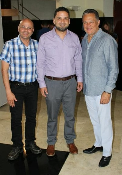 Con el alcalde José Sánchez y Luis Enrique Romero
