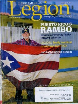 Jorge Otero con Bandera en Portada Revista legiom