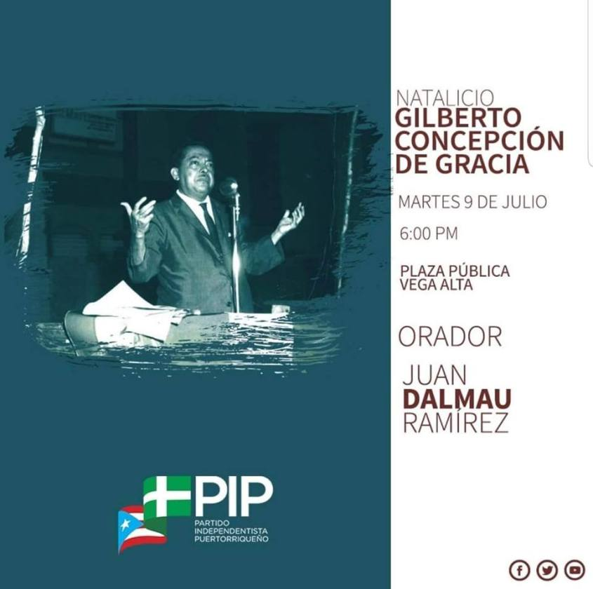 POSTER GILBERTO CONCEPCION DE GRACIA